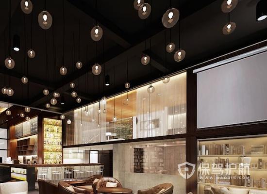 美式风格咖啡店灯光设计效果图