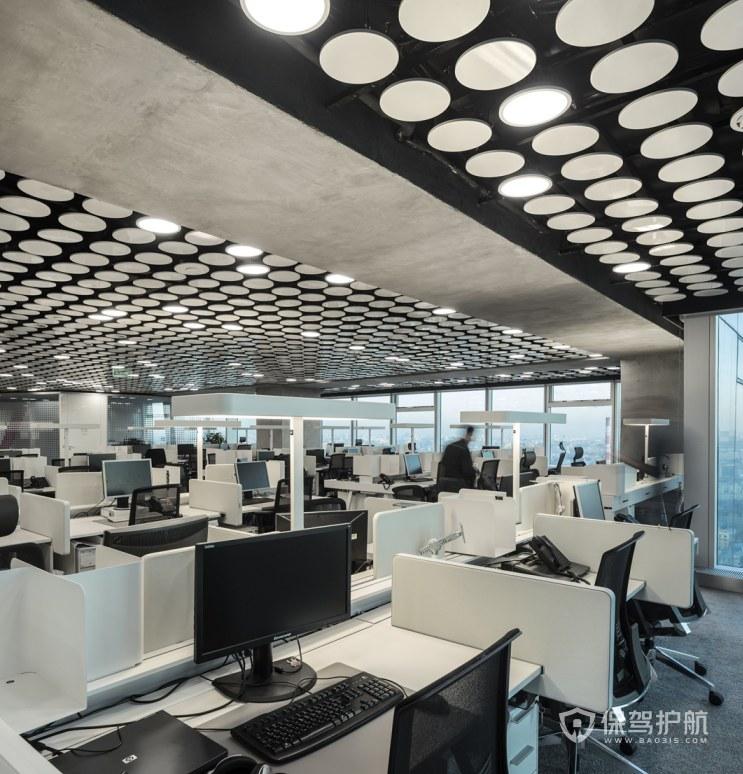 混搭风格办公室办公区装修效果图