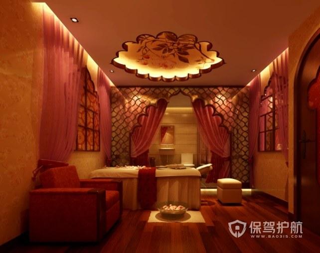 中式新古典美容院房间装修效果图
