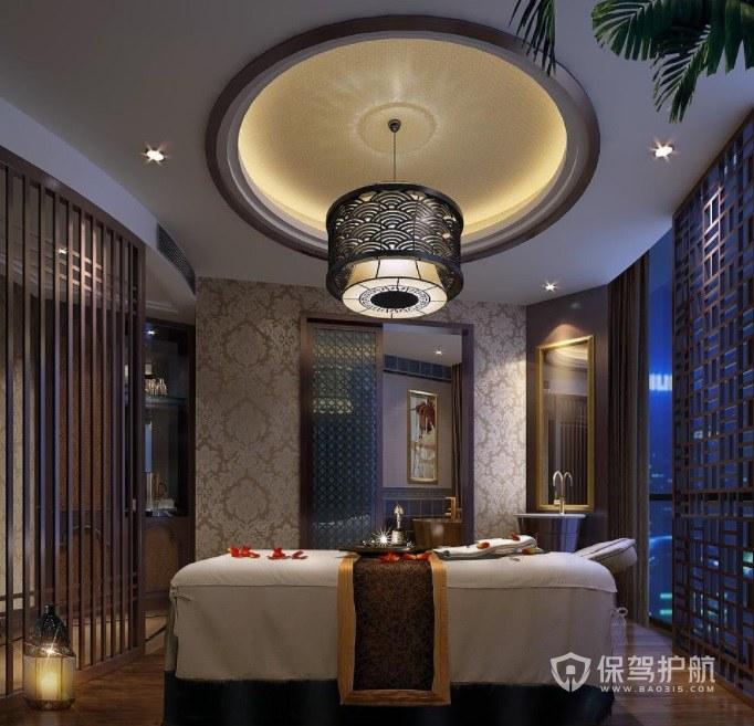 中式古典文艺风美容院房间装修效果图