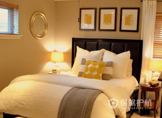 夫妻卧室颜色装修效果图-温馨黄