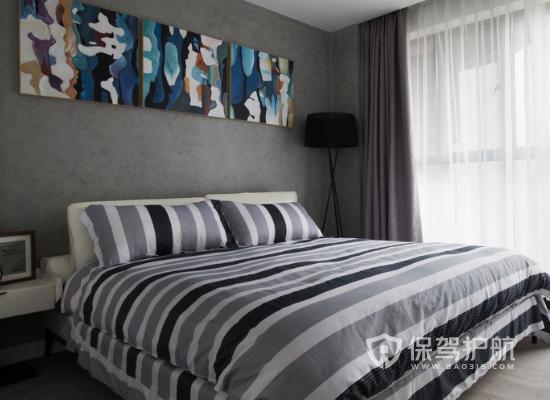 夫妻卧室颜色装修效果图-高级灰