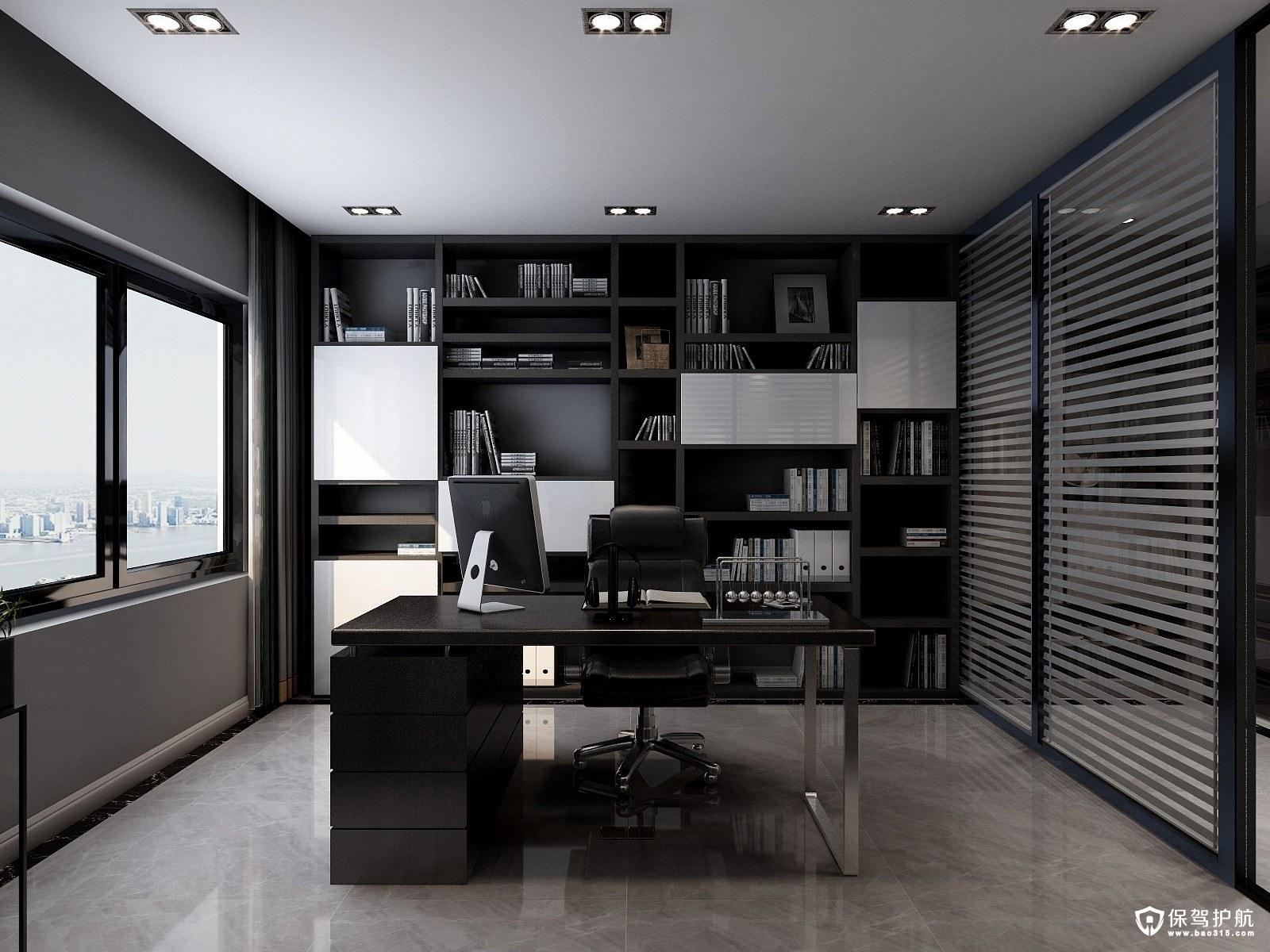 中央大道领域B现代风格三居室装修效果图