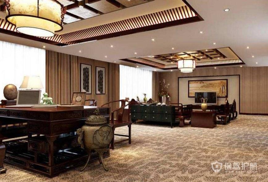 中式风格领导办公室装修效果图