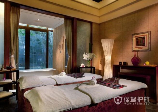 东南亚复古美容院房间装修效果图