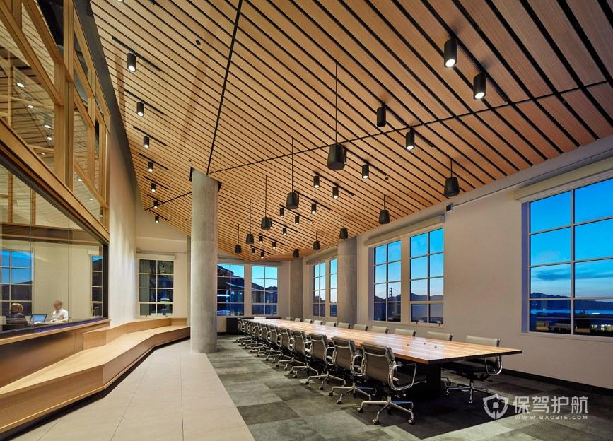 日式风格办公会议室装修效果图