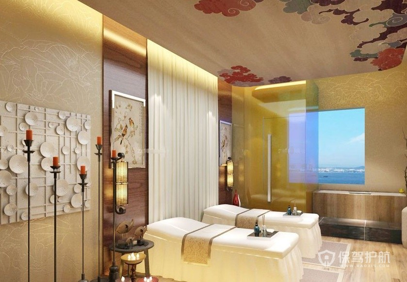 日式简约美容院房间装修效果图