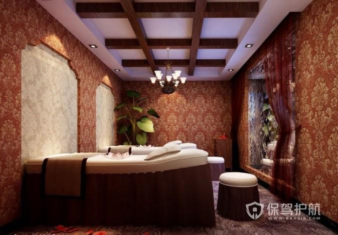 巴洛克复古美容院房间装修效果图