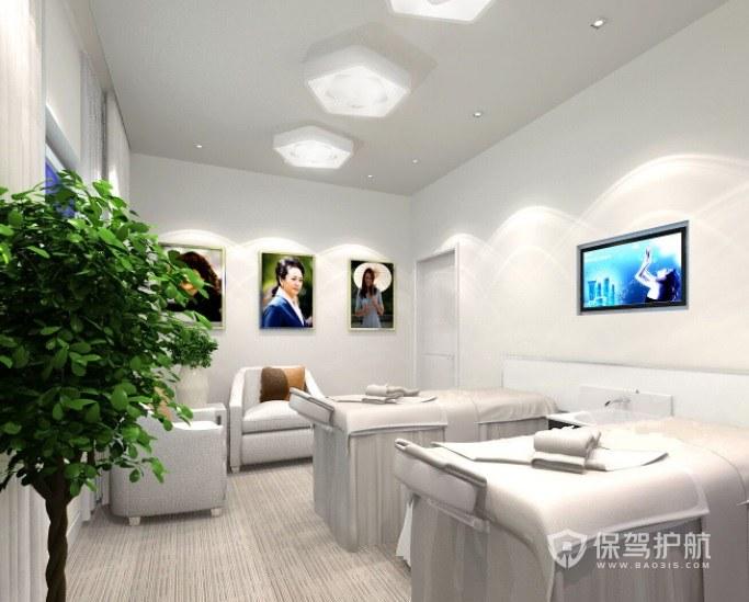 现代极简美容院房间装修效果图