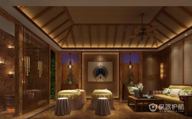 新古典中式美容院房间装修效果图