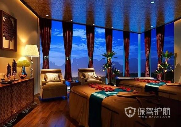 欧式豪华复古风美容院房间装修效果图