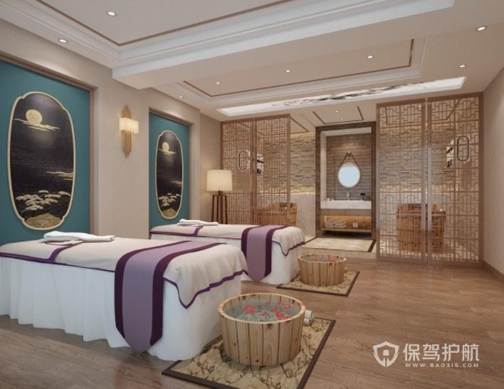 法式古典风美容院房间装修效果图