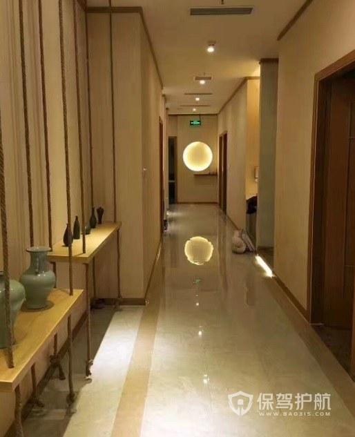 中式古典风美容院走廊装修效果图