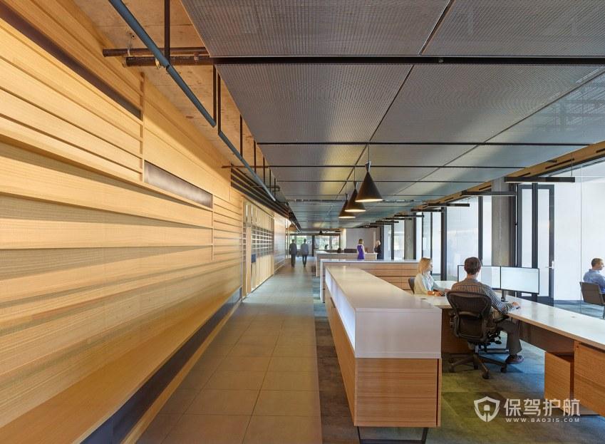 后现代办公室前台装修效果图