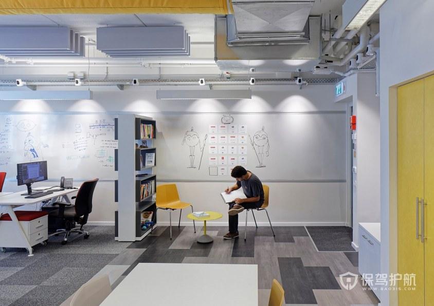 北欧风格办公室办公区装修效果图