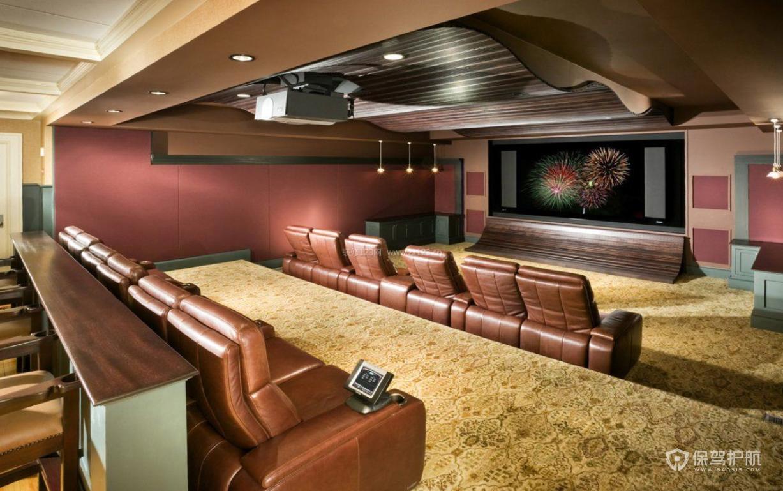 美式复古私人豪华电影院装修效果图