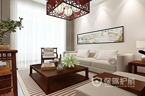 中式客厅装修样板间