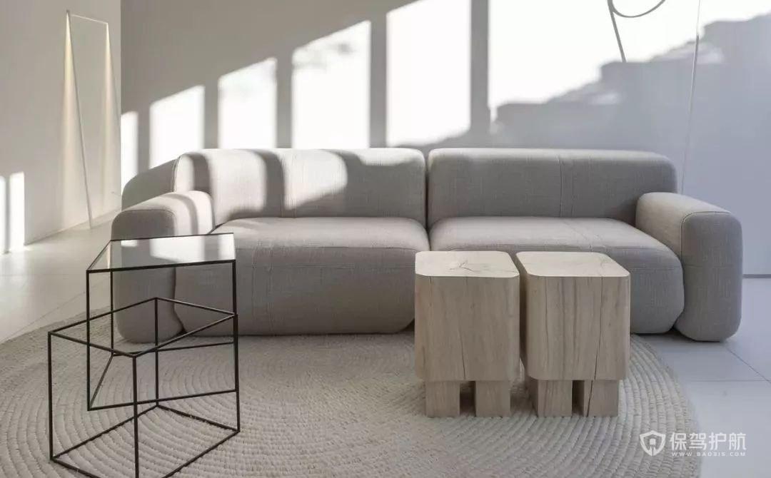 小公寓沙发茶几搭配效果图
