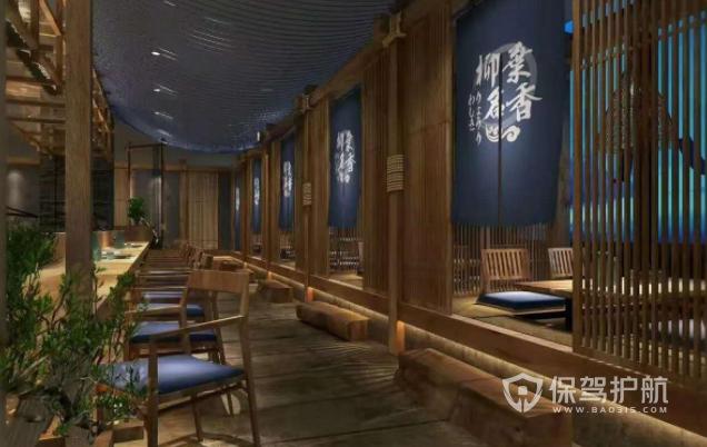 日式古风料理店装修效果图