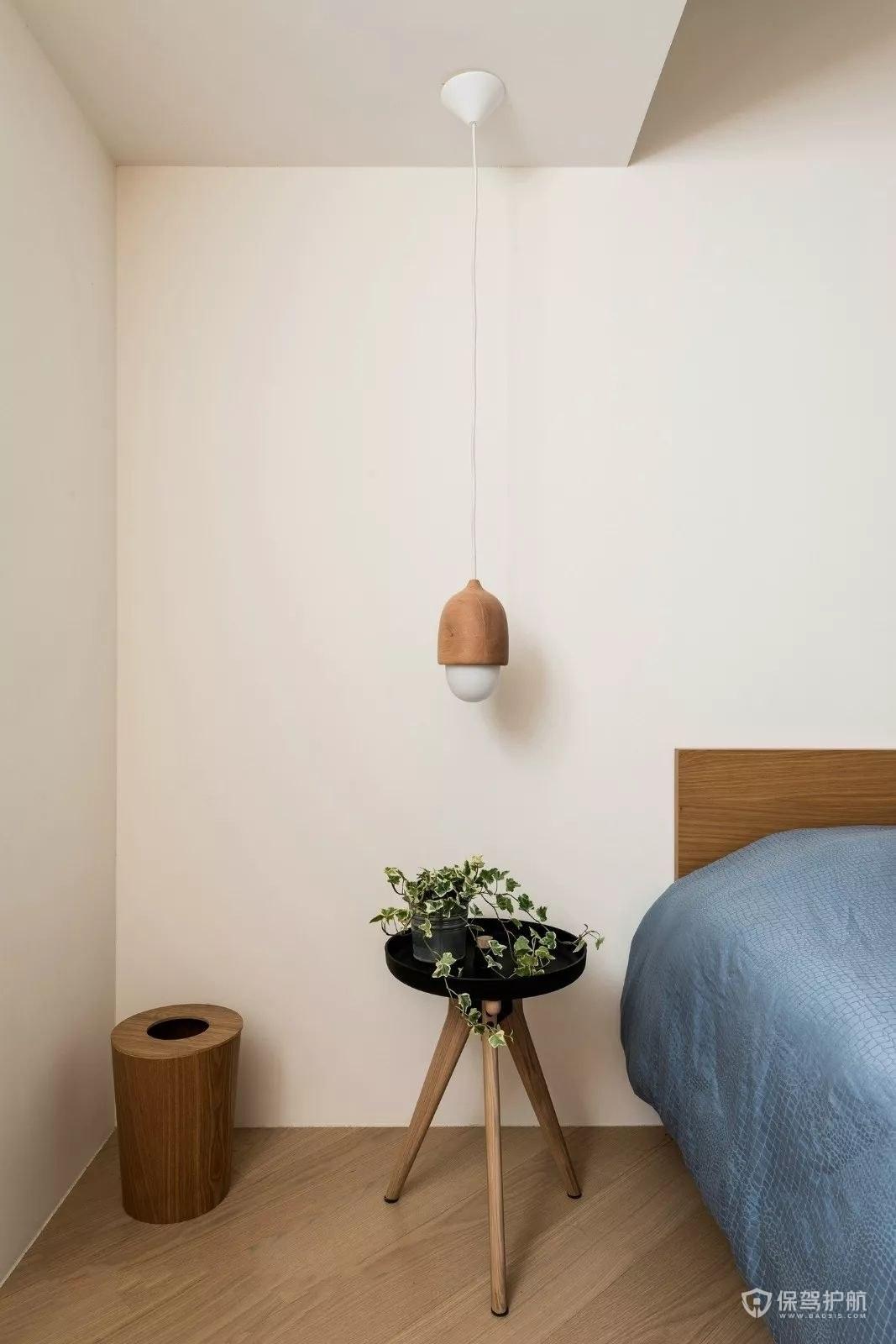 日式极简床头柜组合效果图