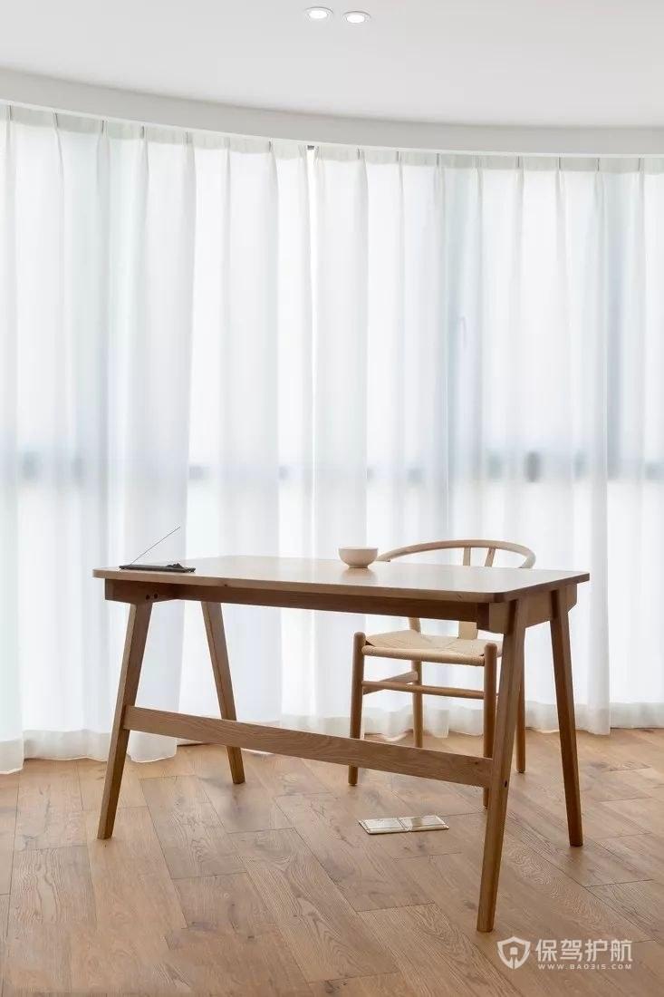 原木风格书桌椅图片