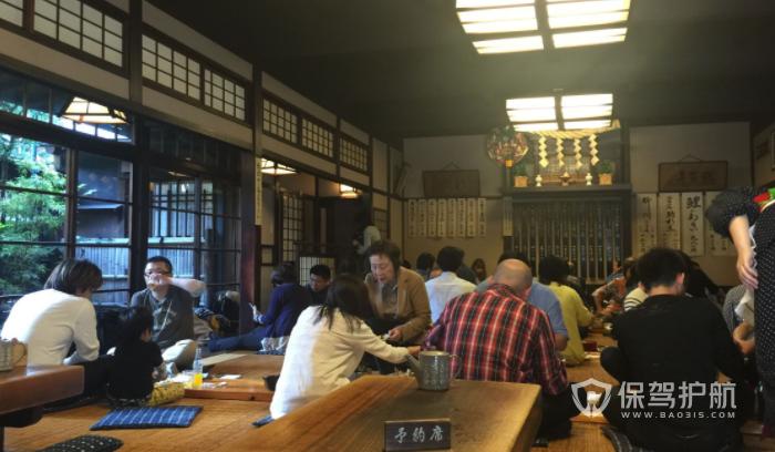 日式簡約古風料理店裝修效果圖