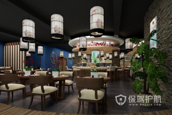日式文化料理店装修效果图