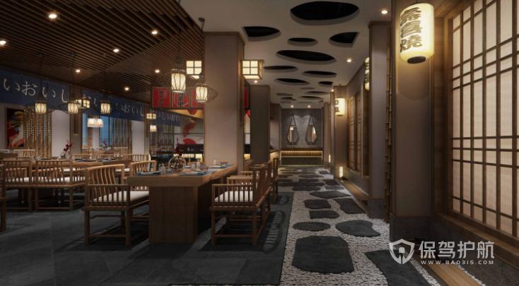 日式古典风料理店装修效果图