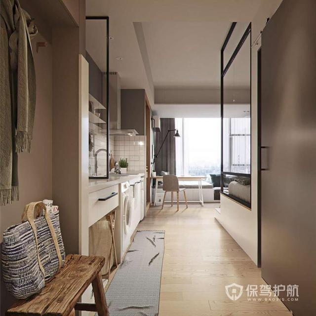 39㎡单身公寓,小空间该有的功能都有,做单身狗也要是个贵族