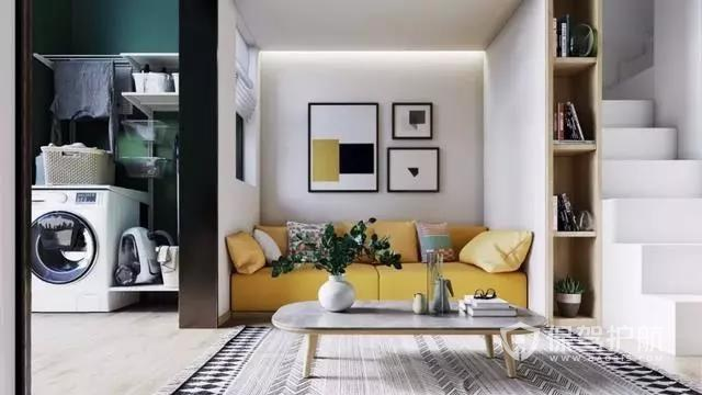 35平loft小公寓,柠檬黄装饰让人眼前一亮!