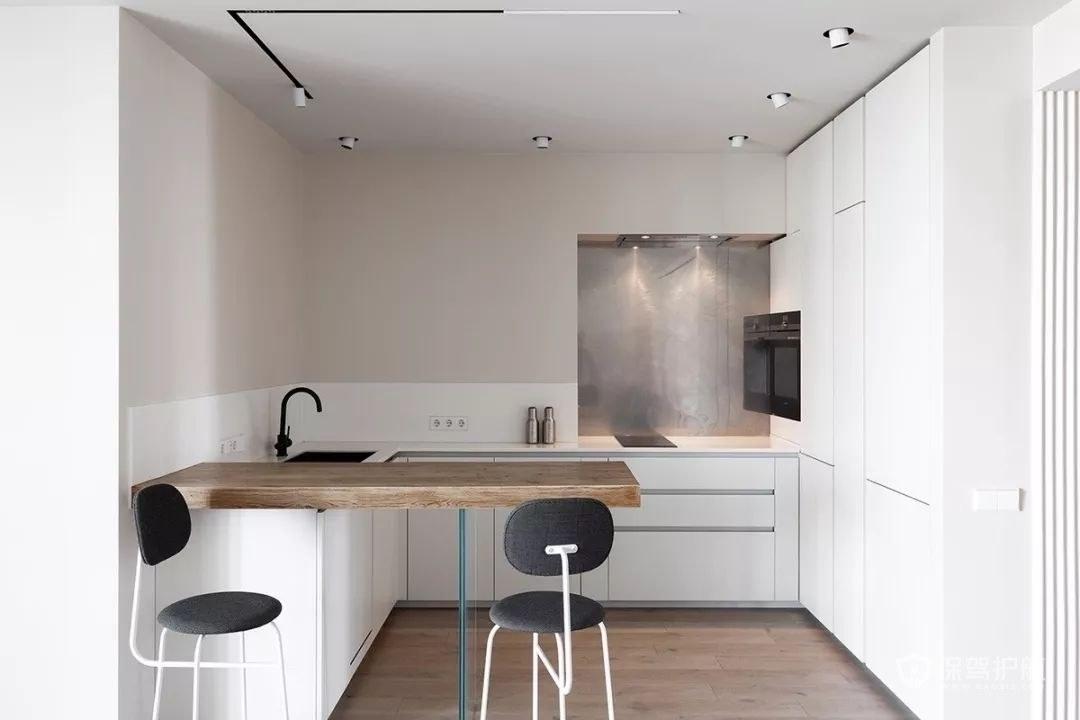 小户型厨房餐厅一体极简装修效果图