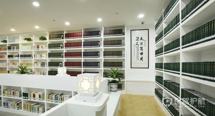 现代中式简约图书馆装修效果图