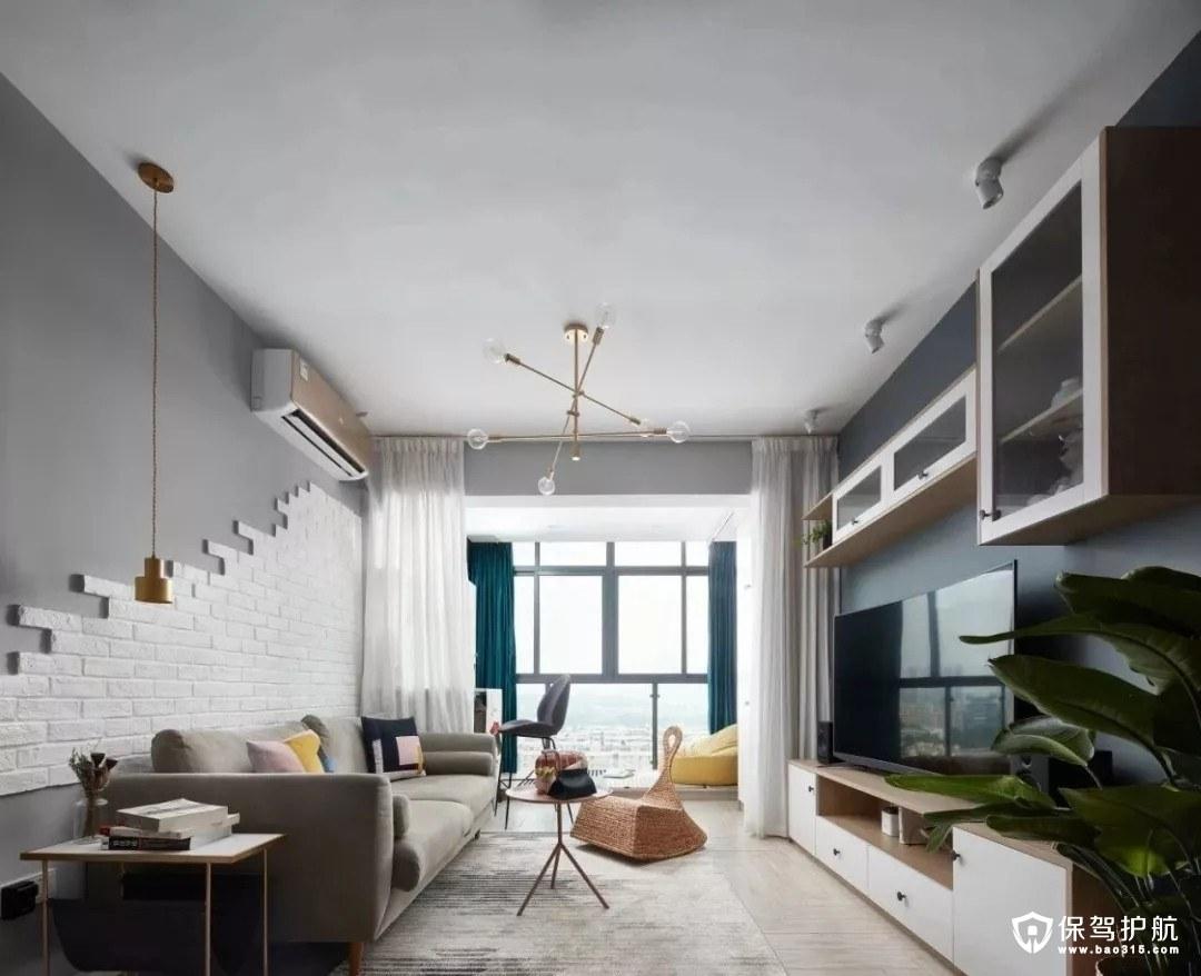 79平的北欧风二居室小户型装修效果图…
