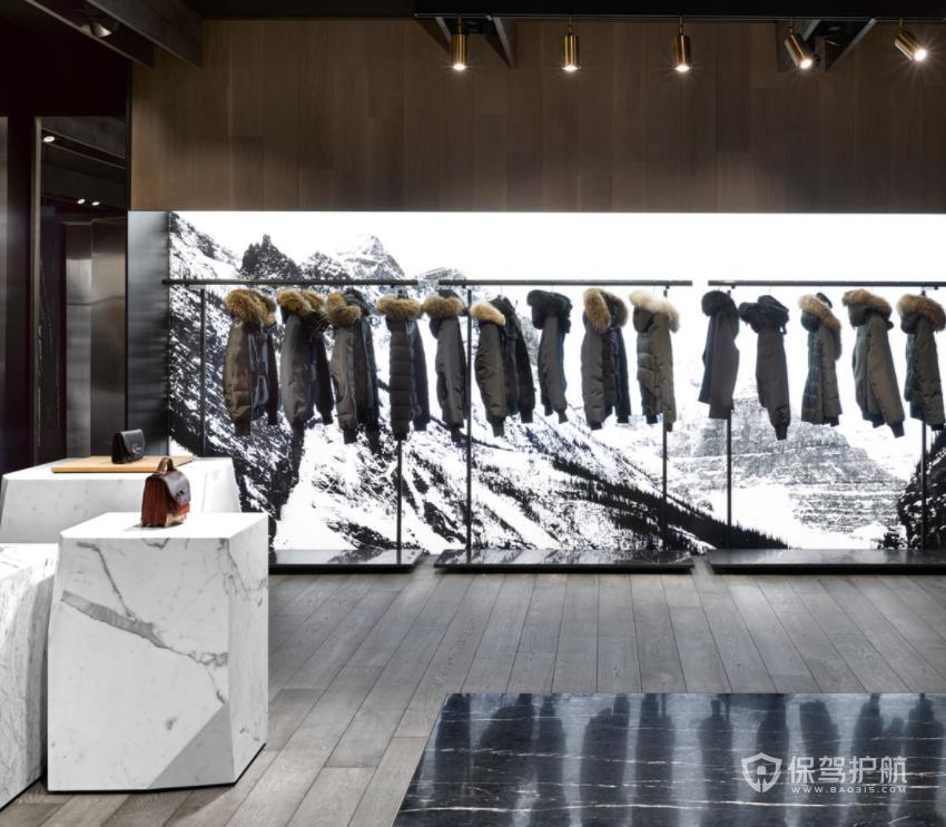 米兰时尚高端服装店装修效果图