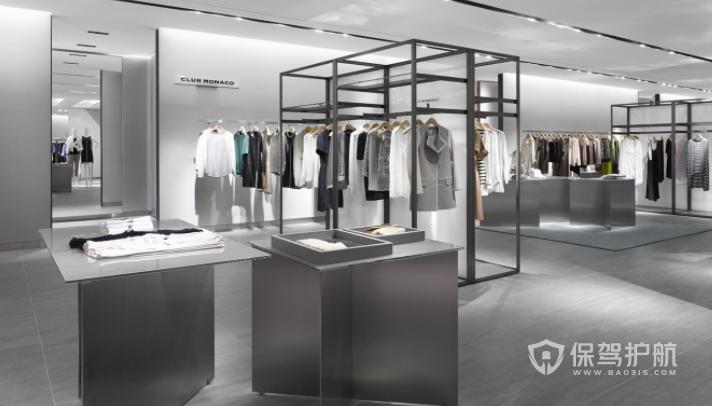 欧美时尚高端服装店装修效果图