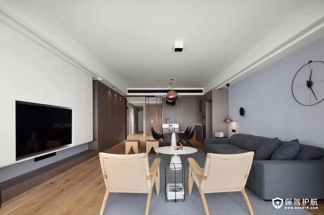 不做吊顶的现代简约风格三居室装修效…