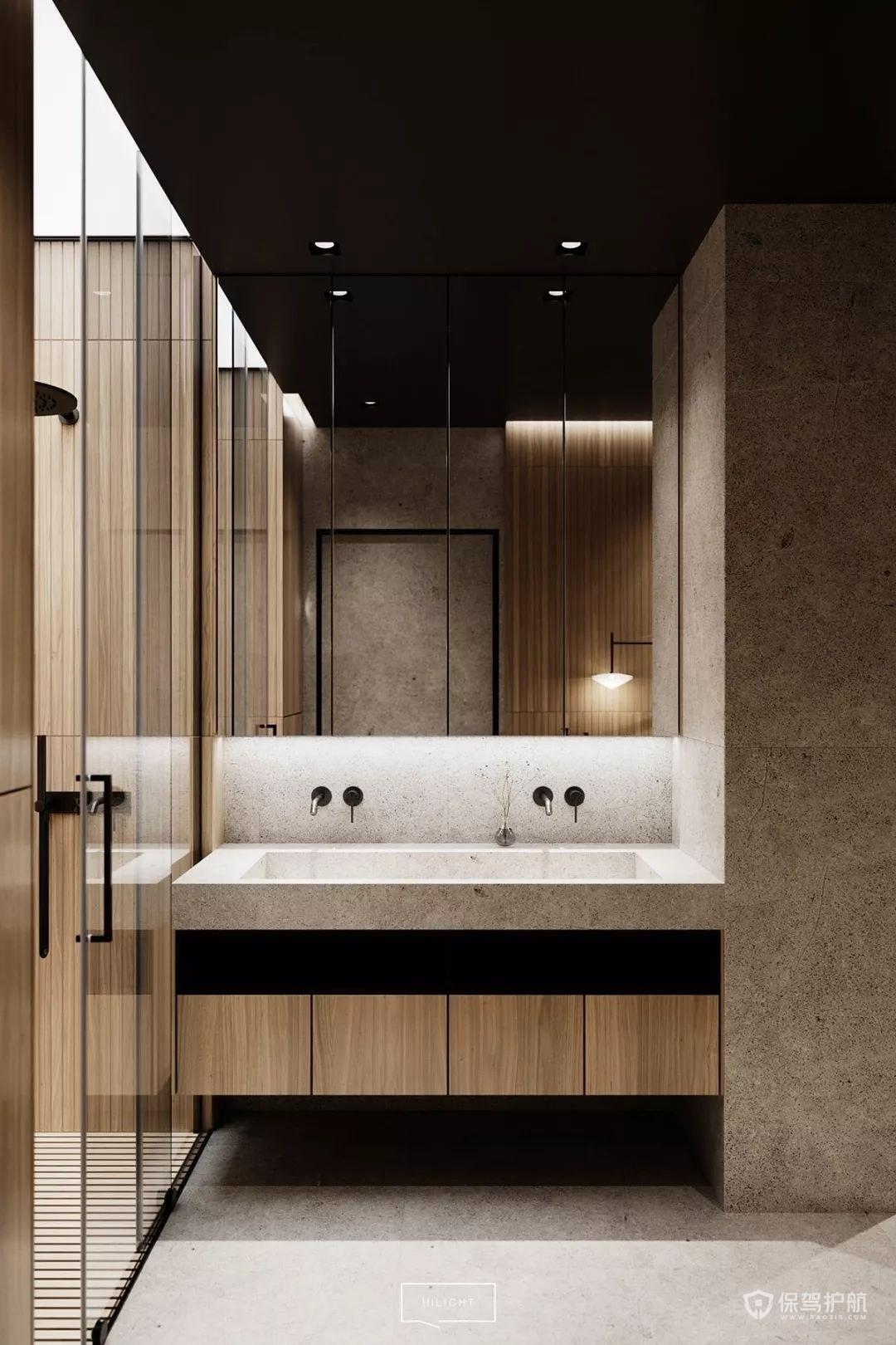 別墅衛生間洗臉盆裝修設計