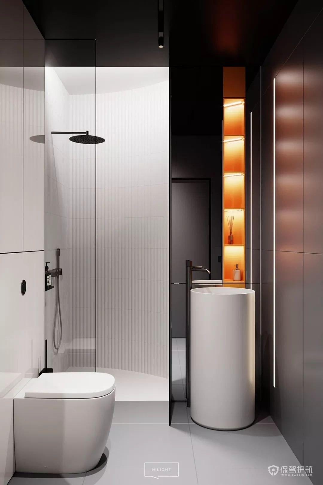 衛生間淋浴房干濕分離效果圖