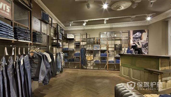 英式暖色系时尚服装店装修效果图