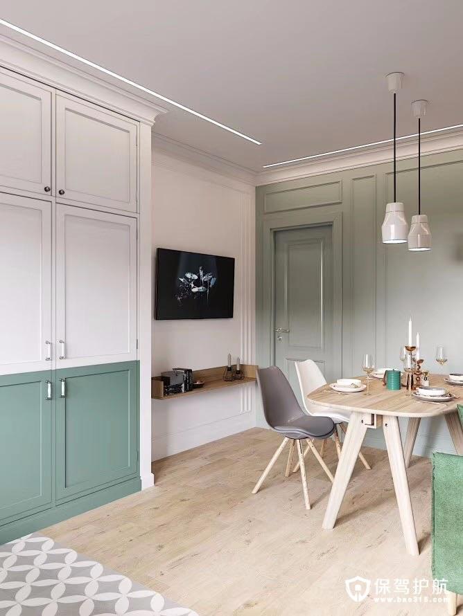 现代北欧混搭风格三居室装修效果图