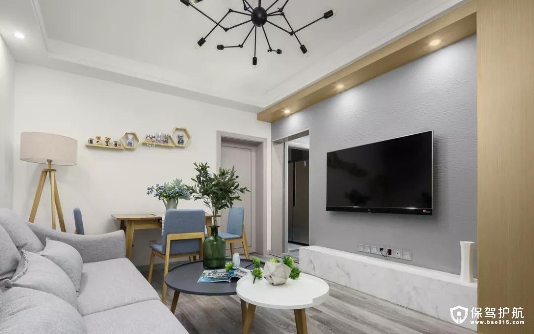 高端舒适的现代简约风格三居室装修效…