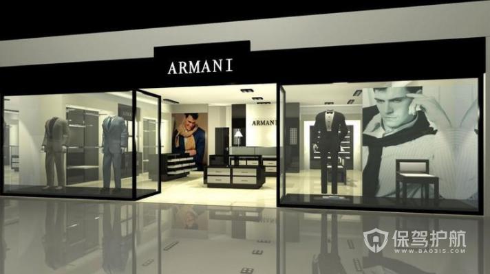 米兰时尚高级服装店装修效果图