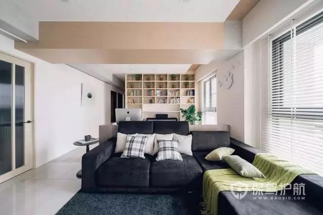100㎡现代居室装修效果图,横厅这样设计,更舒适!
