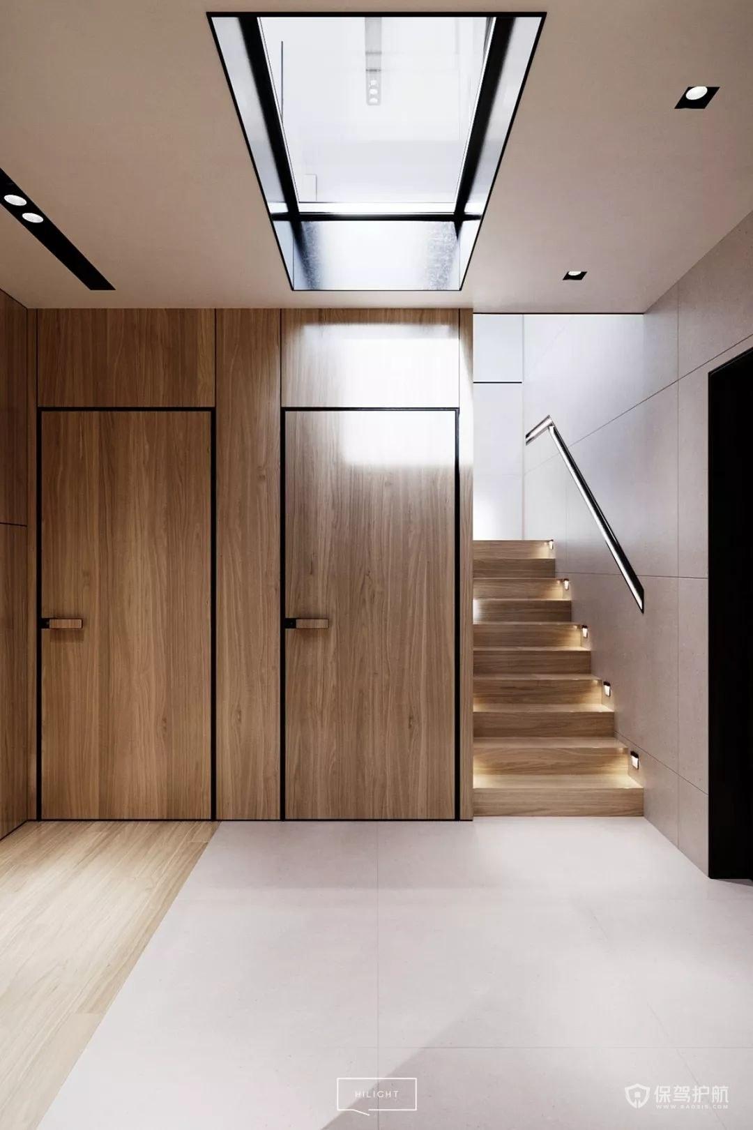 别墅楼梯走廊装修效果图