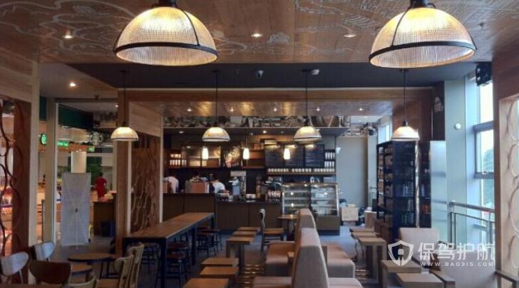 意大利古典风咖啡店装修效果图