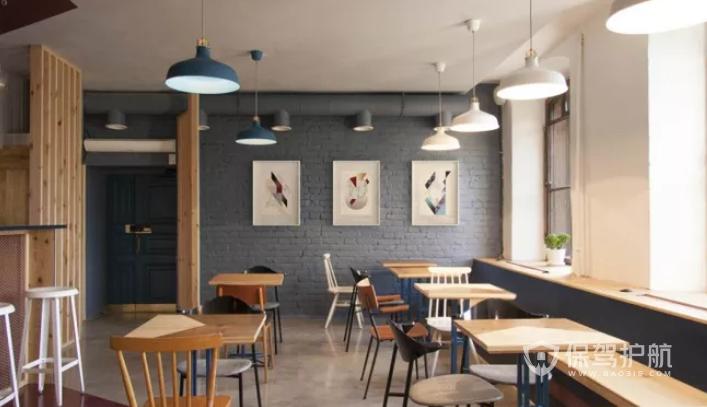 北欧简约风咖啡店装修效果图