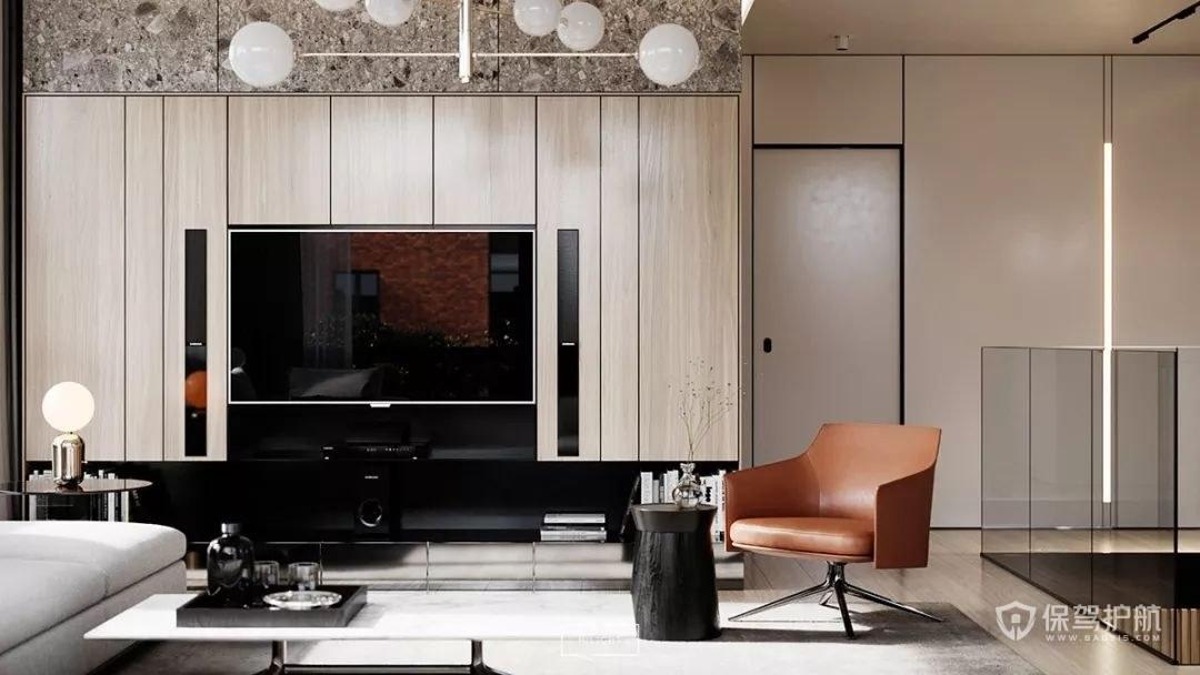 现代奢华电视背景墙装修效果图