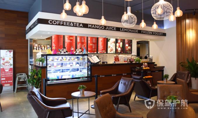 美式简约风咖啡店装修效果图