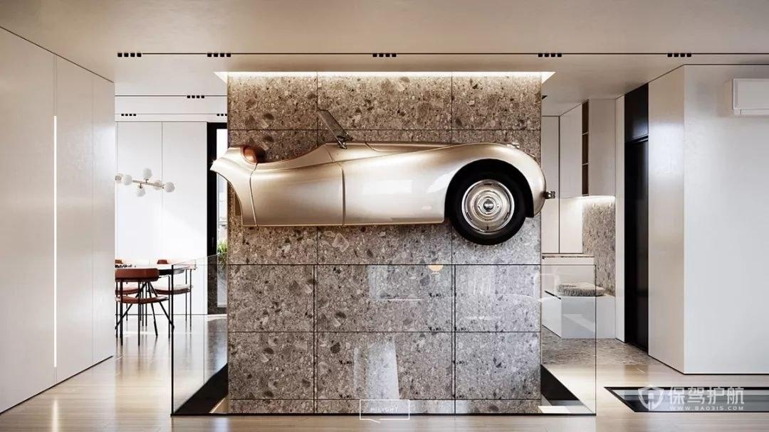 180平大户型客厅隔断墙装修效果图