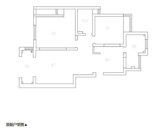 95㎡昏暗老房改造變氣質三房,驚艷小區
